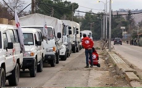 Đoàn xe buyt di tản chiến binh từ thị trấn chiến lược Al-Zabadani
