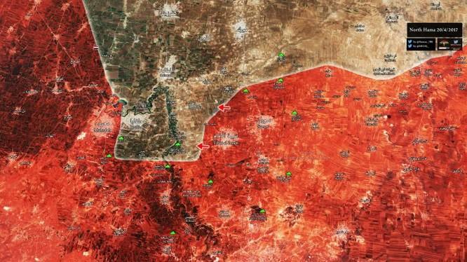 Bản đồ tình hình chiến sự miền bắc tỉnh Hama