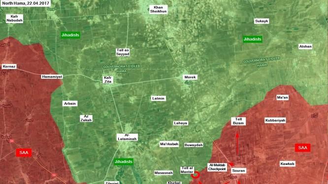 Những địa điểm lực lượng Tiger giải phóng trong ngày