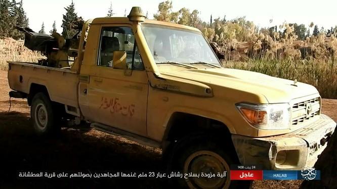 Một xe cơ giới bán tải gắn súng phòng không 23 mm, IS tuyên bố chiếm được của quân đội Syria