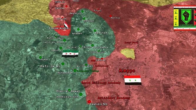 Bản đồ chiến sự tình hình phía Tây Aleppo