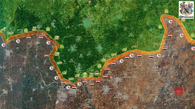 Chiến trường Hama, quân đội Syria cách thị trấn Lataminah.khoảng 1,5 km