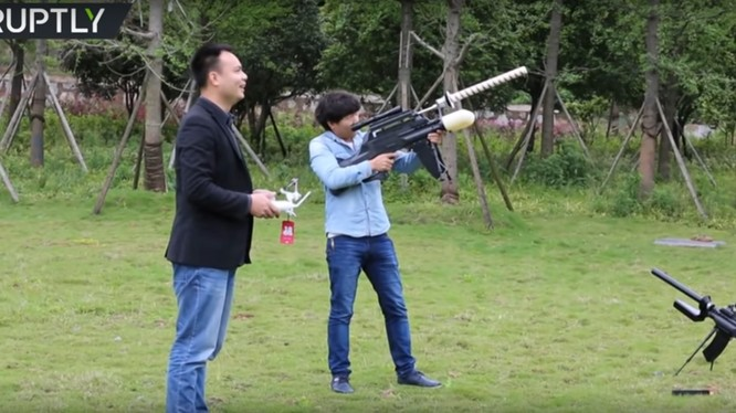 Thử nghiệm bắn hạ drone ở Trung Quốc