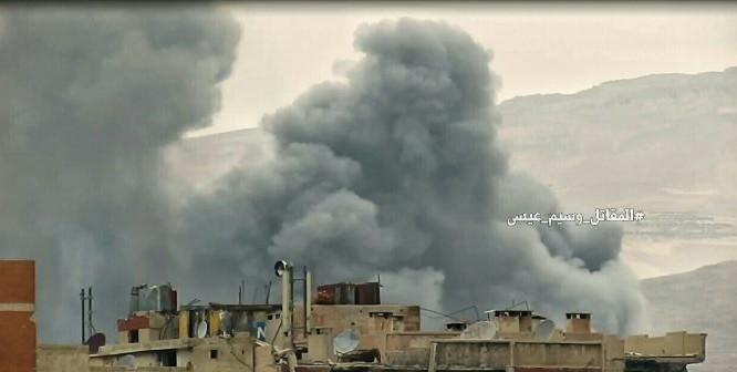 Vụ nổ phá hủy đường hầm trong khu vực quận Al-Qaboun