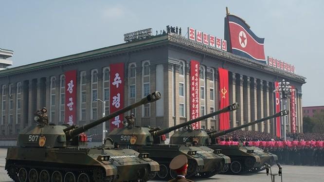 Pháo tự hành 122mm M-1991 quân đội Bắc Triều Tiên