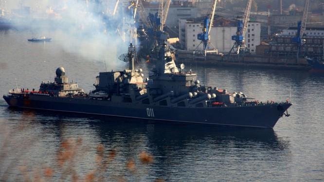 Soái hạm tuần dương tên lửa Varyag ở Đà Nẵng