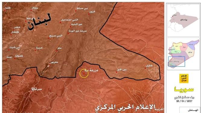 Bản đồ vị trí cửa khẩu biên giới Lebanon - Syria
