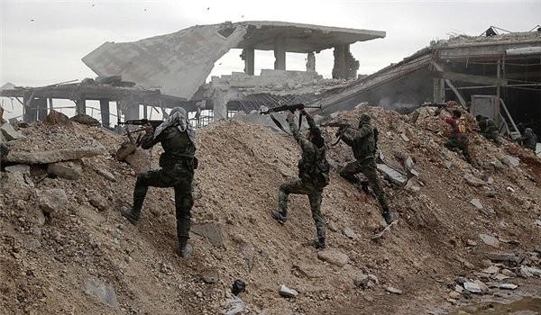 Quân đội Syria chiến đấu trên chiến trường quận Al-Qaboun