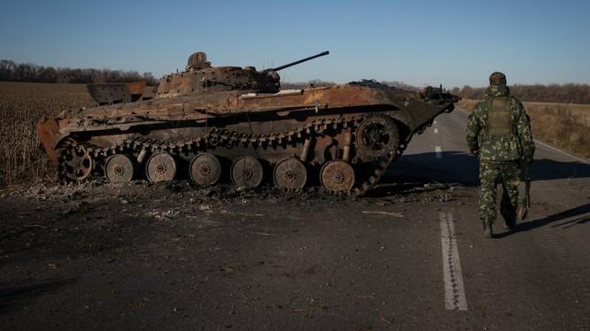 Trên tuyến tiếp xúc giữa Ukraine và vùng Donbass