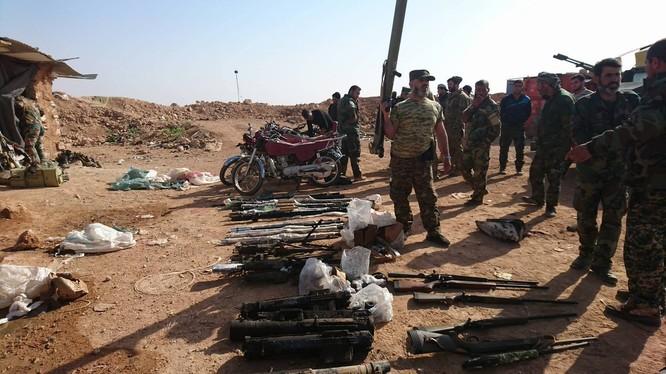 Quân đội Syria thu giữ nhiều vũ khí sau cuộc tấn công