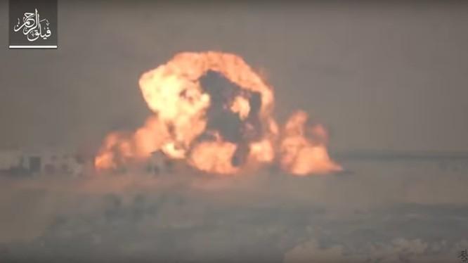 Vụ phá hủy kho quân giới và xe tăng quân đội Syria