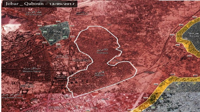 Quận Al-Qaboun hoàn toàn giải phóng, quận Bazeh sẽ phải đầu hàng trong những ngày sắp tới