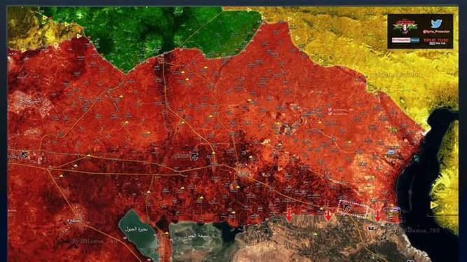 Các mũi tiến công của quân đội Syria sau trận đánh giải phóng sân bay Jirah, Aleppo