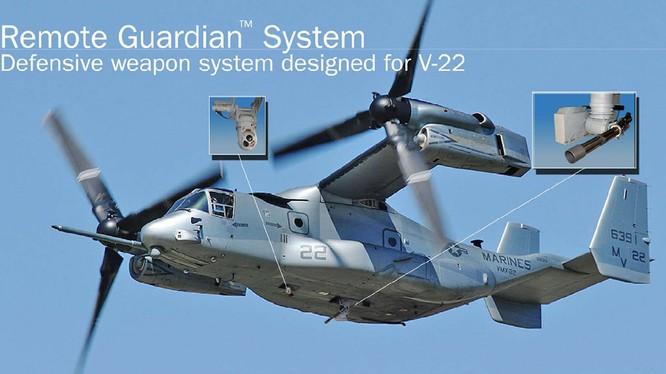 Trực thăng đổ bộ MV-22 Osprey gắn hệ thống vũ khí phòng thủ AWG-35 (V)