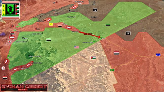 Các mũi tấn công chính của quân đội Syria trên chiến trường Sweida - Damascus