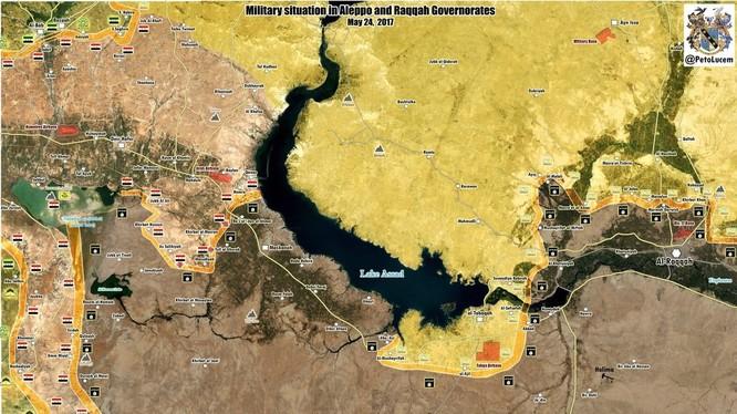 Bản đồ tình hình chiến sự khu vực phía đông Aleppo