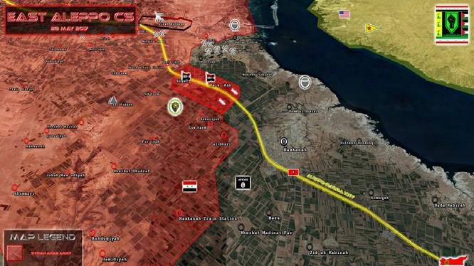 Chiến tuyến của quân đội Syria, chủ công là lực lượng Tiger trên chiến trường phía đông Aleppo