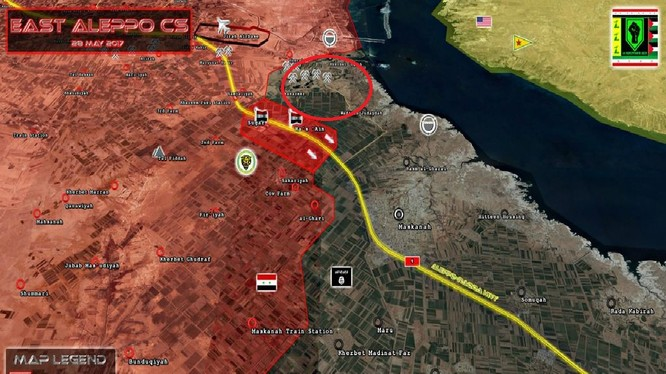 Khu vực thị trấn và làng mạc được giải phóng phía đông Aleppo
