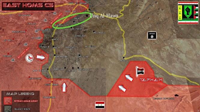 Hướng tấn công tiếp theo của quân đội Syria trên vùng sa mạc phía đông tỉnh Homs