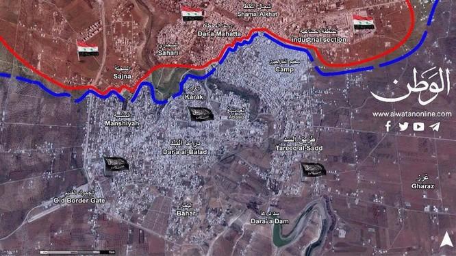 Chiến tuyến thành phố Daraa tính đến ngày 02.06.2017