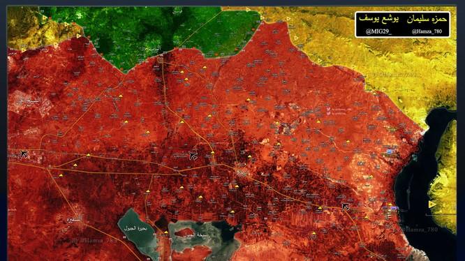 Bản đồ chiến sự phía đông tỉnh Aleppo