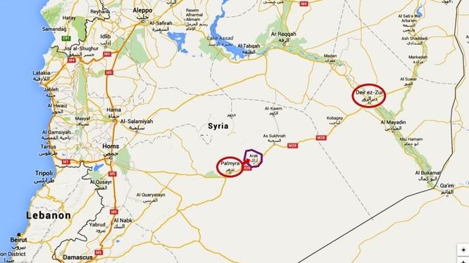 Tuyến đường gian nan tiến về thành phố bị bao vây Deir Ezzor