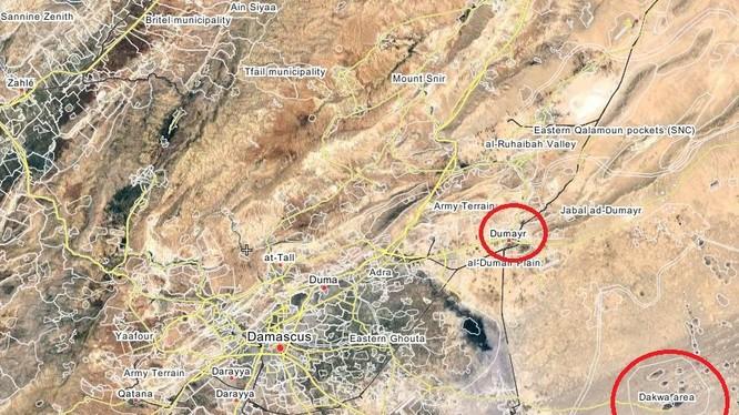 Khu vực cao điểm Dakwah trên hướng đông thủ đô Syria Damascus