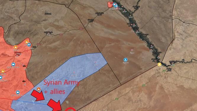 Cuộc tấn công của quân đội Syria, liên két với lực lượng PMU Iraq