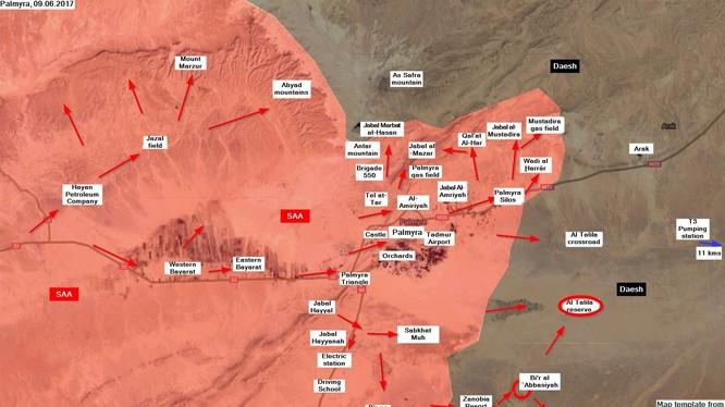 Cuộc tiến công của quân đội Syria trên hướng Palmyra - Deir Ezzor tính đến ngày 09.06.2017