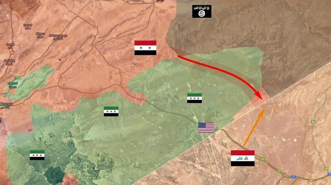 Quân đội Syria tấn công bao vây lực lượng Hồi giáo cực đoan FSA trên biên giới Syria Iraq, Jordan