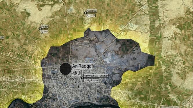 Chiến trường thành phố Raqqa tính đến ngày 10.06.2017