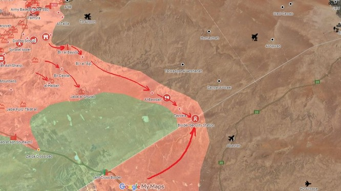 Chiến dịch tấn công hợp binh với lực lượng Vũ trang Rộng rãi Iraq PMU của quân đội Syria