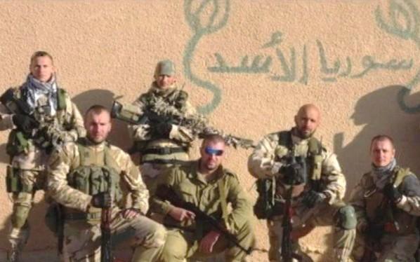 Một nhóm các chiến binh Nga, được cho là lính đánh thuê, hoạt động trên chiến trường Syria