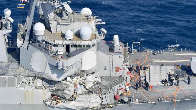 Tàu USS Fitzgerald, khu vực gặp tai nạn