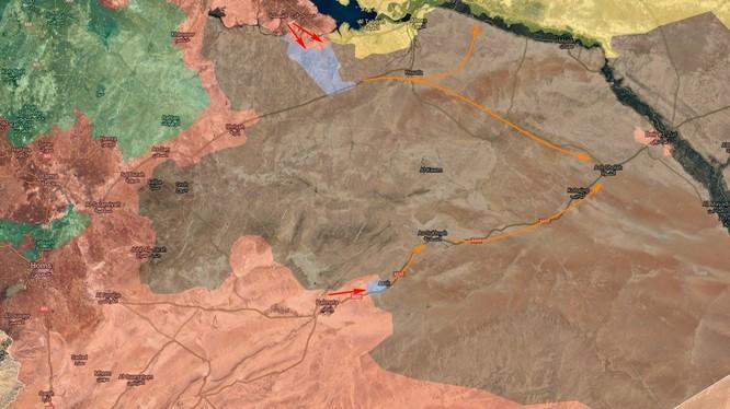 Các mũi tấn công chính của quân đội Syria trên chiến trường phía đông tỉnh Homs
