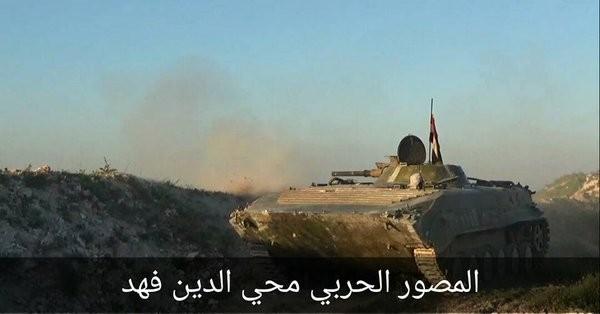 Xe thiết giáp quân đội Syria tấn công ở Hama