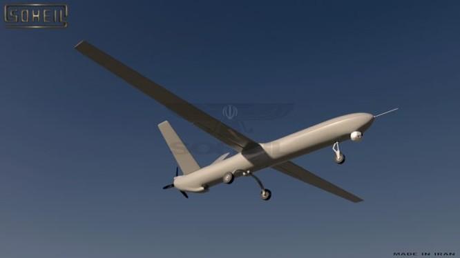 Chiếc máy bay không người lái Shahed 129 do Iran sản xuất, được cho là bị bắn hạ ở thị trấn al-Tanf