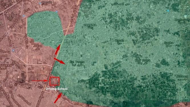 Lực lượng Vệ binh Cộng hòa tấn công vào thị trấn Jorbar và khu vực Ayn Tarma thuộc vùng Đông Ghouta