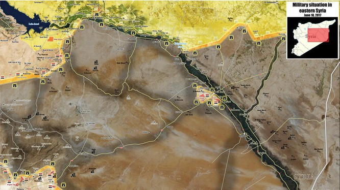 Các mũi tấn công của quân đội Syria trên hướng về Deir Ezzor