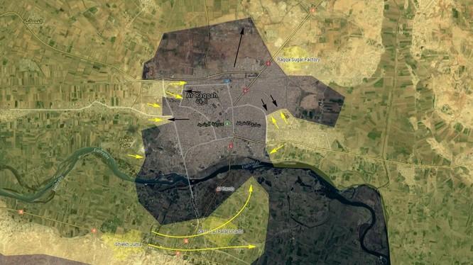 Hình thái chiến trường tỉnh Raqqa tính đến ngày 22.06.2017