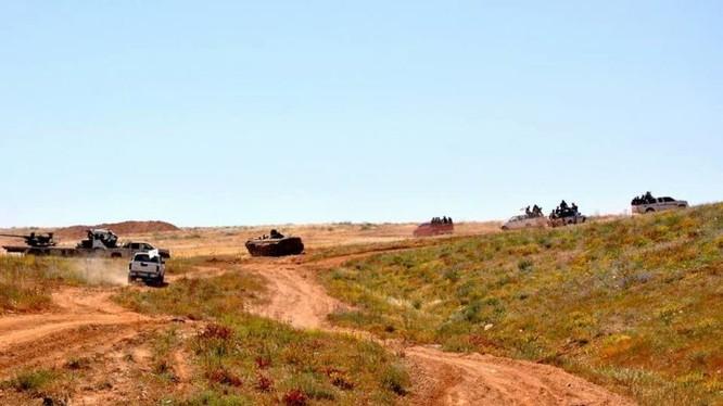 Các đơn vị quân đội Syria tiến công trên vùng sa mạc tỉnh Homs