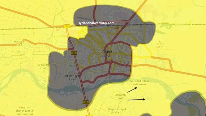 Toàn bộ thành phố Raqqa đã hoàn toàn bị người Kurd bao vây