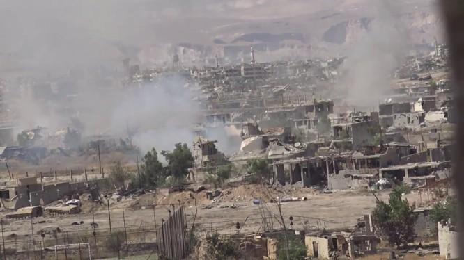 Chiến trường khu vực quận Jobar, ngoại ô phia đông Damascus