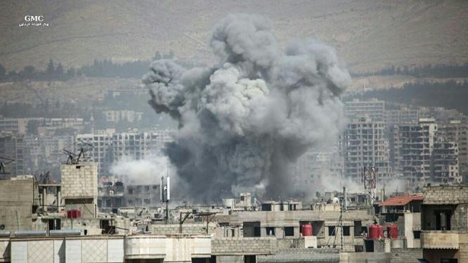 Không quân Syria không kích dữ dội khu vực Jobar, ngoại ô Damascus