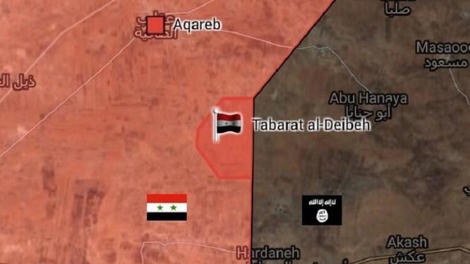 Bản đồ cao điểm chiến lược Tabarat Al-Deibeh do quân đội Syria vừa giải phóng