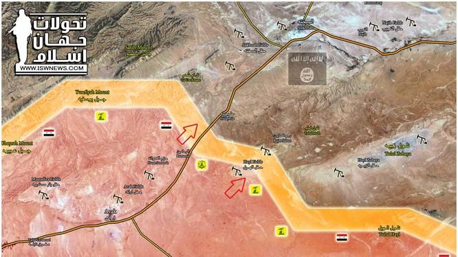 Quân đội Syria tấn công từ mỏ khí gas al-Hayl về hướng Deir Ezzor