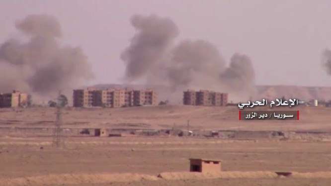 Không quân Nga - Syria không kích thành phố Deir Ezzor