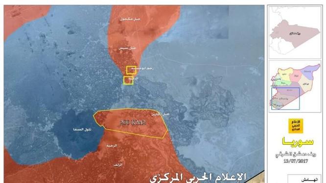 Quân đội Syria tiến công giải phóng 200 km2 lãnh thổ trên vùng sa mạc tỉnh Sweida