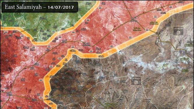 Chiến trường Hama tính đến ngày 14.07.2017