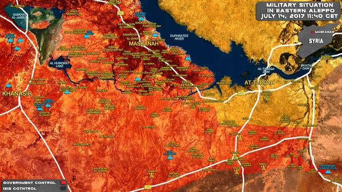 Khu vực lực lượng Tiger giải phóng ở Raqqa và hướng tấn công tiếp theo về phía sa mạc tỉnh Homs